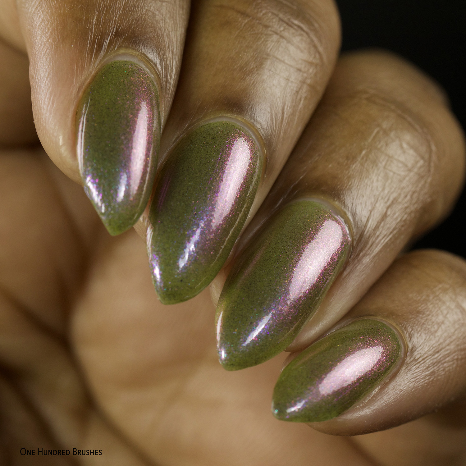 Olive You Berry Much - Closeup - Night Owl Lacquer for Olive Polish Feb 2021