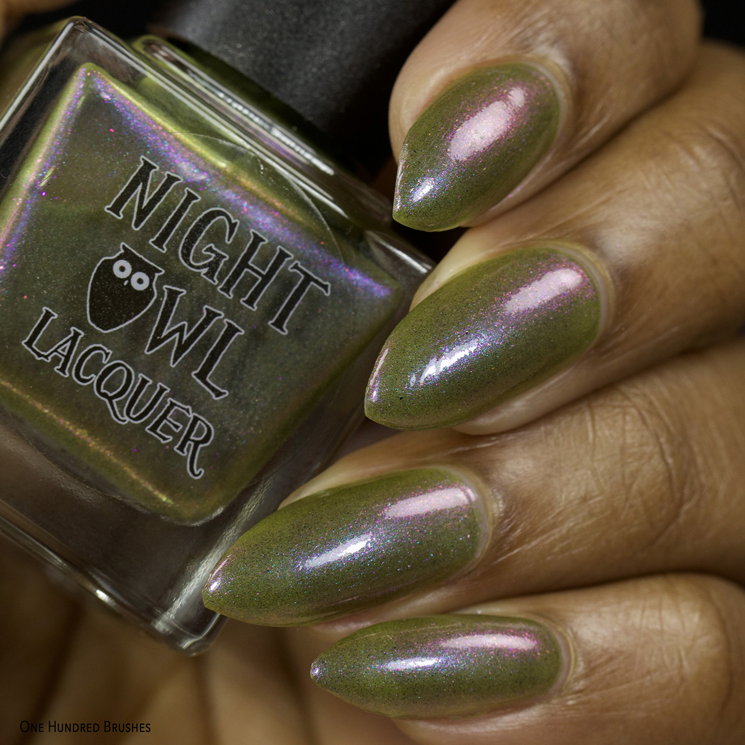 Olive You Berry Much - Front - Night Owl Lacquer for Olive Polish Feb 2021