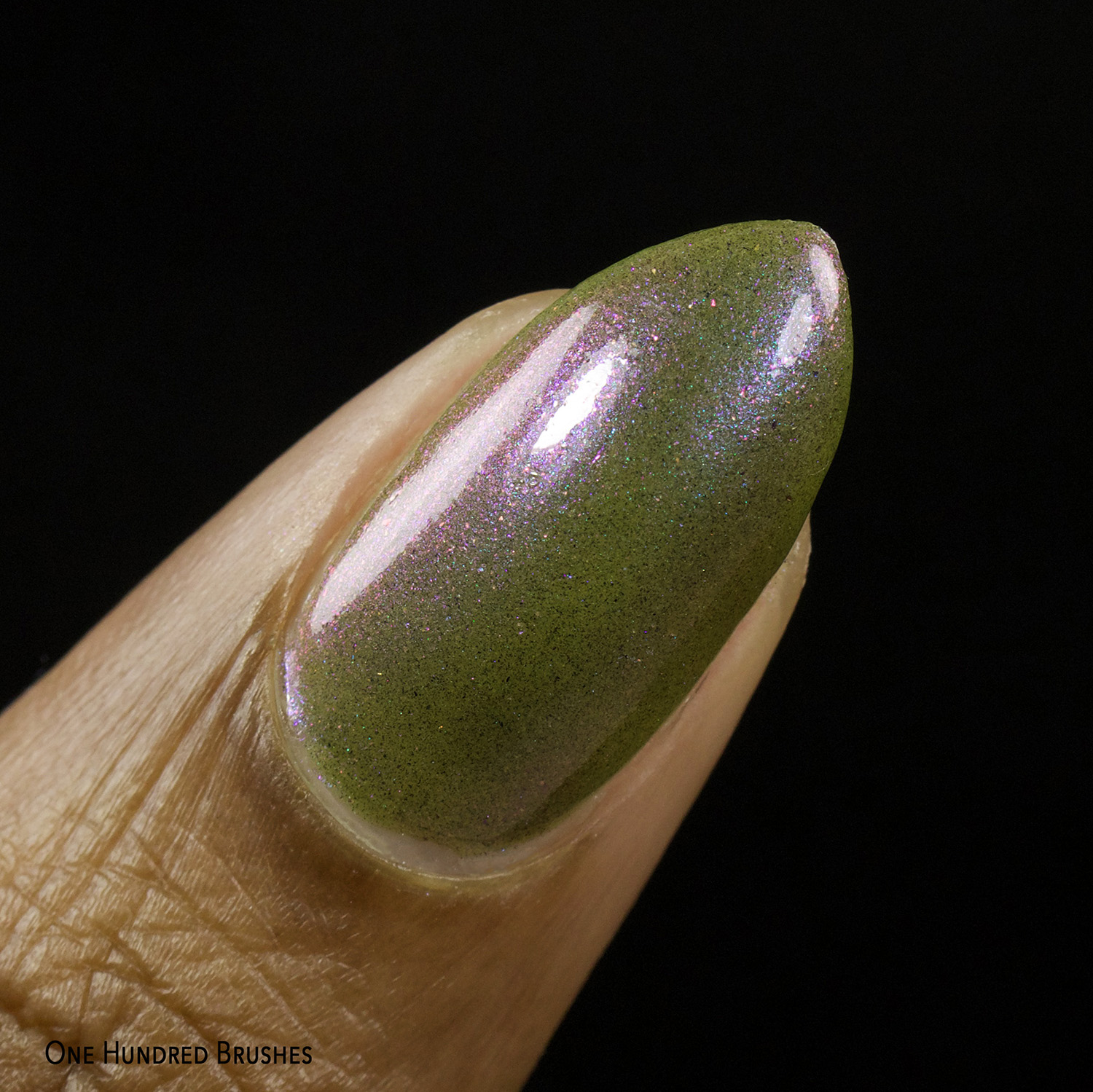Olive You Berry Much - Macro - Night Owl Lacquer for Olive Polish Feb 2021